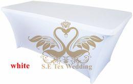 $enCountryForm.capitalKeyWord NZ - White Color Lycra Spandex Table Cover \ Table Cloth For Wedding