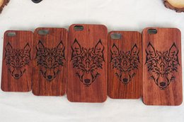 handmade wood phone cases Canada - Handmade Engraving Wood Phone Case For Iphone 8 6 6s 7plus Shookproof Wooden TPU cell phone cases For Samsung S7 edge S8 Plus