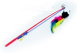 Wholesale feather bar resale online - Derrick bell mouse toy rabbit mouse cat cat cat toy bar bell feather toy mouse