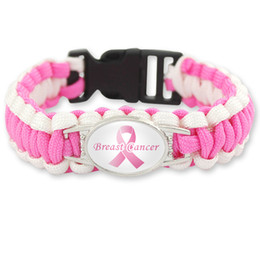 Cancer Hope Charms Australia - 2019 breast cancer Fighter awareness bracelets women Pink yellow Ribbon Charm Hope Wristbands Bangle For Men Fashion Outdoor Sports Jewelry