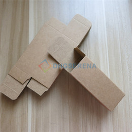 Paper Package Size Canada - 100pcs lot- Kraft Paper Box Essential Oil Perfume sample box Cosmetic Gift packaging box- multi sizes available