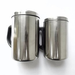 Silver inSulation online shopping - 350ml ml Stainless Steel Non magnetic Coffee Mugs Double Walls Hot Insulation Mug with Handle Travel Mugs Silver Christmas Gifts