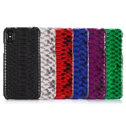 Chinese  2017 Retro Luxury Genuine Python Snake Skin Leather Back Case For iPhone X manufacturers