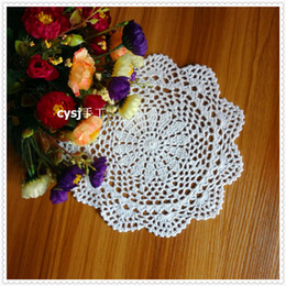 "Discount flower cutouts - Wholesale- Korean women like 20 pcs 8.5"" round lace coasters mugs by natural cotton cutout flower design for weddin"