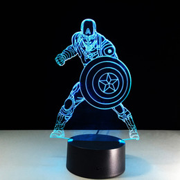 $enCountryForm.capitalKeyWord Canada - Captain America Style 3D Optical Illusion Lamp Night Light DC 5V USB 5th Battery Wholesale Dropshipping