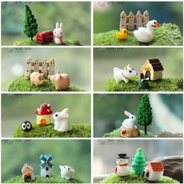 $enCountryForm.capitalKeyWord Australia - 3pcs set artificial dog rabbit owl Ornament fairy garden miniatures gnomes moss terrarium decor resin crafts home decor dollhouse for DIY