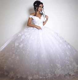 Discount beautiful fashionable dresses - Custom Made Wedding Dresses New Arrival Ball Gown Princess Bridal Lace Romantic Modern High Quality V Neck Fashionable B