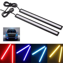 Discount drl led light bars drl led light bars 2018 on sale at drl led light bars 2018 2 pcs car styling 17cm cob drl led trailer lights aloadofball Images