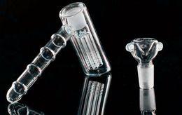$enCountryForm.capitalKeyWord Canada - New glass hammer 6 Arm perc glass percolator bubbler water pipe matrix tobacco pipe bong bongs showerhead perc two functions