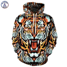 Vêtements De Tigre Pour Femmes Pas Cher-Hip Hop Mode Hommes / Femmes Marque Vêtements Hoodies À Capuche Pop Art Imprimer Tigre 3d Sweat Hommes Survêtements Pull À Capuche
