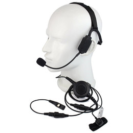 TacTical headseTs pTT online shopping - Finger PTT MIC Military Bone Conduction Tactical Headphone Headset for HYT Hytera PD700 PD780 PD580 Radio Walkie talkie C2220A