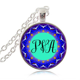 $enCountryForm.capitalKeyWord UK - Monogram Necklace Initial Pendant Personalized Name Letters Customized Necklace Glass Cabochon Time Gem Om Lotus Jewelry Gift for Friends