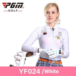 Barato Manga Longa Gola Polo Mulheres-PGM Women Golf T Shirts Full Sleeve Autumn Fashion Turndown Collar Polo Camisas femininas de manga comprida