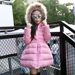 Stock Clothes Winter Canada - In Stock Girls Jackets & Coats New Fashion Hooded Thickening Of The Long Down jacket Hot Girl's Clothing Children Cotton Outwear Clothing