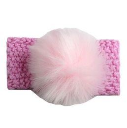 Pretty Hair For Australia - Baby Crochet Headbands Fur Ball Hairband for Girl Pretty Princess Party Decor Infants Hair Accessories Boutique Wool Knitting Headress