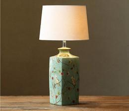 Современное искусство деко светодиодные настольные лампы керамический держатель лампы хлопок абажур Главная гостиничный номер декор настольные лампы на Распродаже