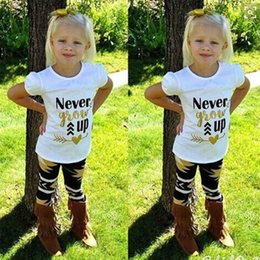 Floral Print Shirts Baby Australia - Girls Children Clothing Sets Outfits Clothes Baby Kids Toddlers Floral Cotton Short Sleeve Tees Tops T- Shirt Pants Letter Printing Suits