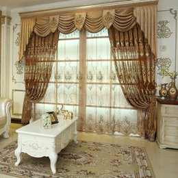 bedroom window curtains blinds and curtains blackout drapes luxury valance curtain embroidery window treatments western style 42w 50w 72w - Styles Of Valances