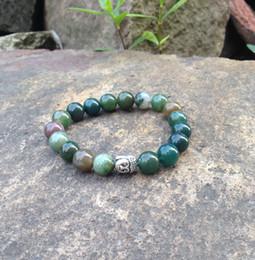 IndIa hottest online shopping - SN0406 Hot Sale Yoga Bracelet Natural Stone buddha bracelet india agate man mala buddhist bracelet