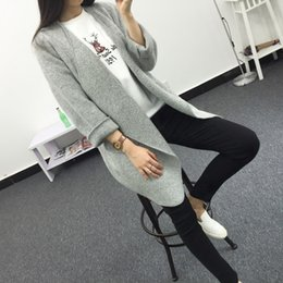 $enCountryForm.capitalKeyWord UK - Wholesale- 2017 New Spring Autumn Womens Cardigans Sweater long Sleeve Color Grey Khaki Outwear knitwear Womens Clothing Clothes