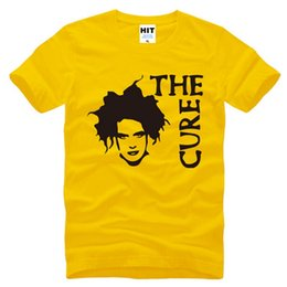 Barato Do Punk Roupas De Rocha Masculino-New Summer The Cure Robert Smith T Shirts Homens Moda Rock Punk T-shirt Homem Short Sleeve O Neck Algodão Printed Male Tops Tee Men's Clothing