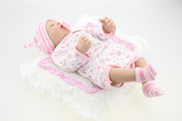 "Silicone Babies Girl Canada - 20"" Lifelike Full Body Silicone Reborn Baby Girl Doll Soft Newborn Sleeping Reborn Baby Doll in Pink Clothes"