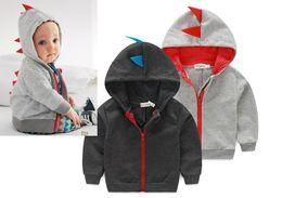 Boys Dinosaur Jacket Canada - Autumn 2017 new dinosaur hoodies jackets kids, boys jacket outerwear baby sweaters winter long sleeve spring