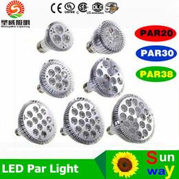 Dim Led ampul par38 par30 par20 9 W 10 W 14 W 18 W 24 W 30 W E27 par 20 30 38 LED Aydınlatma Spot Lamba ışığı downlight