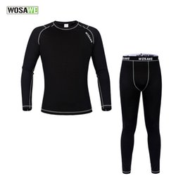$enCountryForm.capitalKeyWord NZ - WOSAWE Men Compression Tights Long Sleeve Jerseys Running GYM Fitness Winter Thermal Underwear Long Johns Cycling Base Layers