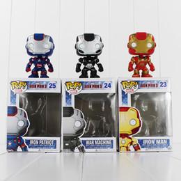 Vente en gros FUNKO POP Vengeurs Iron Man PVC Action Figure Collection Jouet Poupée 9.5cm 3 style que vous pouvez choisir Livraison Gratuite