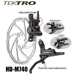$enCountryForm.capitalKeyWord NZ - TEKTRO HD-M740 Mountain Bike Bicycle Caliper Brake + Lever Brake Aluminum Hydraulic Disc Cycling Brake About 293g