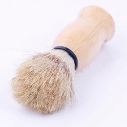 Al por mayor-2016 Nueva Arrivlal Brocha de Afeitar Perfectamente Afeitado Peluquero Hard Wood Handle Badger Peluquería Herramienta Envío Gratis