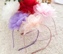 Cute Little Girl Hair Accessories Canada - Girls Floral Headbands Children Wedding Party Accessories Girls Cute Flower The Little Children Headbands Girls Hair 2016 New Hot Summer