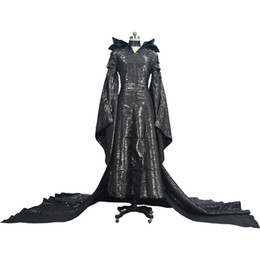 Maleficent Movie Costumes UK - Kukucos Adult Womens Dress Maleficent Evil Black Queen Latex Halloween Cosplay Fancy Costume