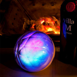 Wholesale Super Bass Colorful LED Light Crystal Magic Ball Speaker Wireless Bluetooth with remote controller Universall for Phone ipod Tablet PC
