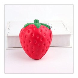 cute strawberry cartoon NZ - Cute Strawberry Squishy Kawaii Squishies Slow Rising Pendant Phone Straps Charms Kid Toys Strawberry Squishies Ice Cream Phone Charms
