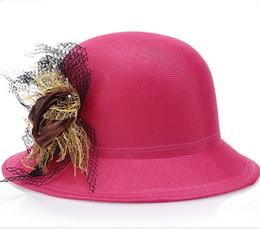 Roses Beach Hats Canada - Hot sale Breathable Linen Beautiful Flower Rose Women Flax Flower Hat Bowler Beach Visor Cap