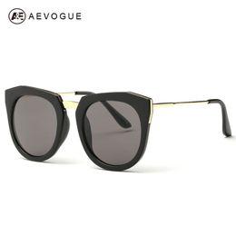 18757a9ce3 Wholesale-AEVOGUE Sunglasses Women Oval Mirror European style Sun glasses  Personality metal frame Brand Design UV400 AE0346