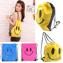 Wholesale 2016 New LOVELY Smile Bags Travel pouch sack For women shopping Swimwear package Free DHL FedEx