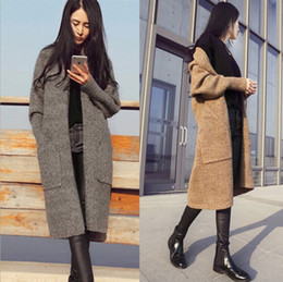 57e75302f5 2017 New Autumn Winter Long Cardigan Women Sweater Women Solid Ladies Long  Sleeve Knitted Cardigans Sweater Jacket Sexy Coat free shipping