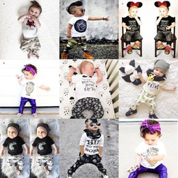 $enCountryForm.capitalKeyWord Canada - Ins Newborn Boy Girl Print Set Clothing Top T Shirt+Pant 2 Piece Suit Toddler Kid Casual Tracksuit Gift Baby Costume Christmas Halloween