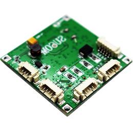 Опт Лучший 38 * 38 мм мини ethernet печатная плата, DC 5-15v 5pin разъем заголовка 4 порта 10 100 Мбит / с сетевой коммутатор pcb модуль с компактным дизайном