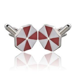 Discount resident evil gifts - Resident Evil Umbrella Cufflinks Cuff Links Collar Button for women men Dress Business Suit alloy Cufflink Christmas Jew