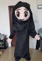 Wholesale arab women costume resale online - SX0727 good vision light to wear arabic girl mascot costume arab female woman mascots for adult to wear