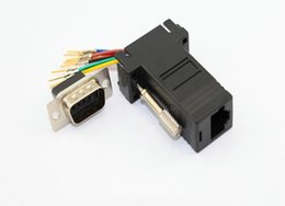 Female db9 online shopping - 200pcs RS232 DB9 Female to RJ45 Female connector Adapter for DVD PC DVR