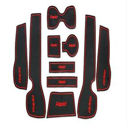 Skoda matS online shopping - 10pcs set Gate Slot Pad non slip Mats Car Accessories For Skoda Rapid