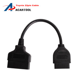Obd1 Obd2 Connector Canada - High Quality Toyota 22Pin to 16Pin Female OBDII Cable 22 pin Diagnostic tool obd1 to OBD2 Connector cable Free Shipping