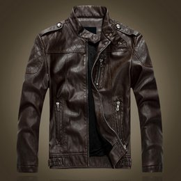 $enCountryForm.capitalKeyWord NZ - High quality Men jacket 2017 new fashion brand motorcycle faux leather clothing mens leather jackets and coats Suede Jacket Bomber JACKET