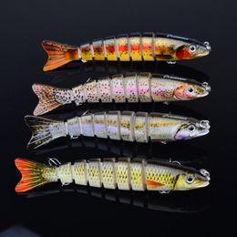 Vente en gros 12.3cm / 17g Multi Jointed Bass Leurres de pêche en plastique Swimbait évier crochets s'attaquent aux leurres de pêche de haute qualité