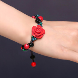 $enCountryForm.capitalKeyWord Canada - National wind bracelet with original hand woven manual accessories rose bunch of restoring ancient ways, female Bohemia
